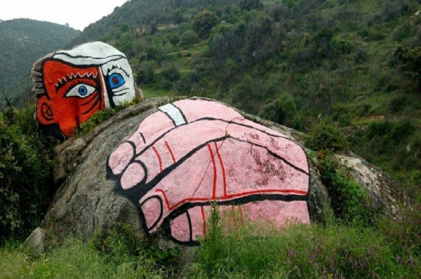 Murales all'ingresso di Orgosolo